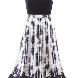 Sale Black and white gown
